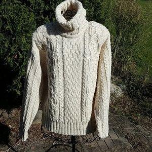 VTG Liz Claiborne cream sz.L cable stich sweater